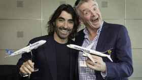 Javier Hidalgo (izq.), consejero delegado de Globalia, y Michael O´Leary, CEO de Ryanair