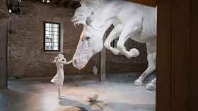 Vista de la sala donde se encuentra EL problema del caballo, de Claudia Fontes.