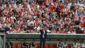 Ernesto Valverde en uno de sus últimos partidos como técnico del Athletic.