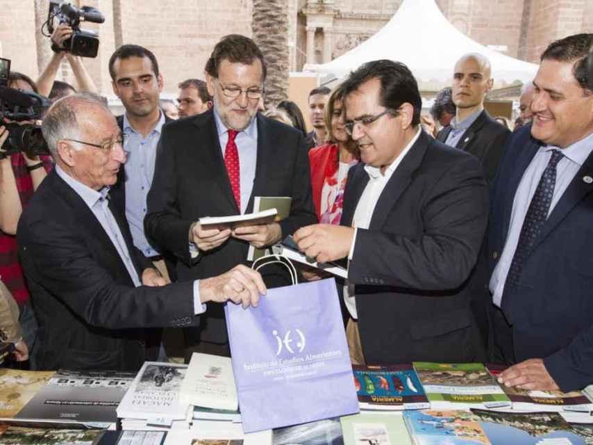 Rajoy en la Feria del Libro de Almería.