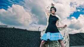 Parte del cartel de la VI Jornada de Moda Sostenible que se celebra estos días en el Museo del Traje .   Foto: Topher Lily.