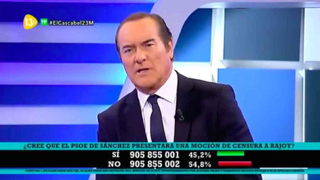 Antonio Jiménez, el presentador de El cascabel al gato.