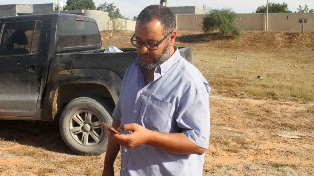 Ramadan Abedi, padre del terrorista suicida, este miércoles en Trípoli