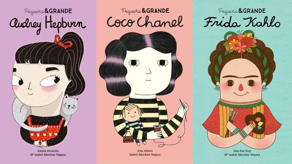 Audrey Hepburn, Coco Chanel y Frida Kahlo de la colección Pequeña&GRANDE.
