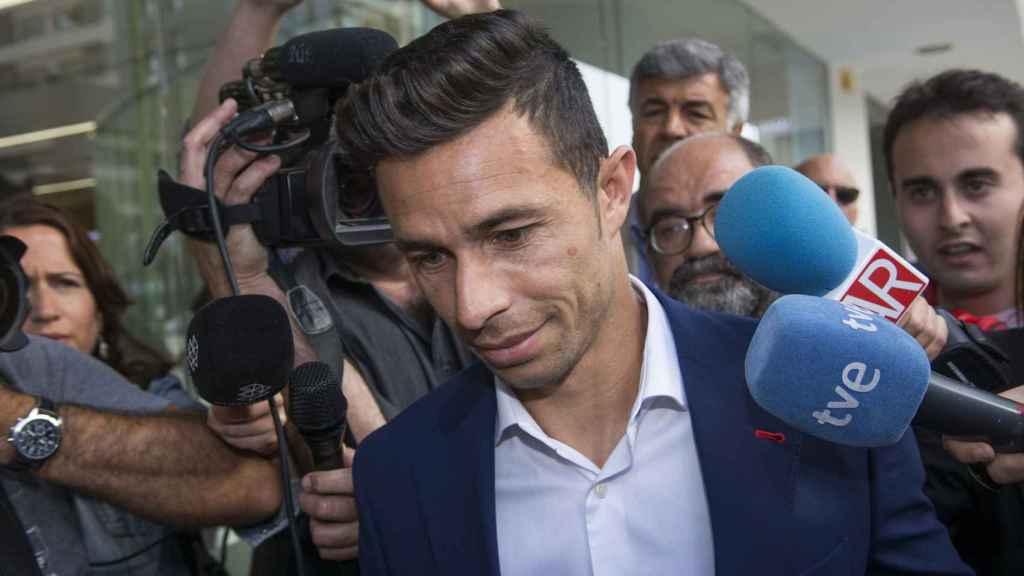 Rubén Castro, a la salida del tribunal.