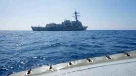 El destructor USS Dewey, camino del Mar de China.