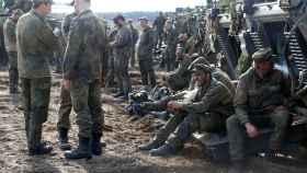 Soldados del ejército alemán en un ejercicio militar en Pabrade