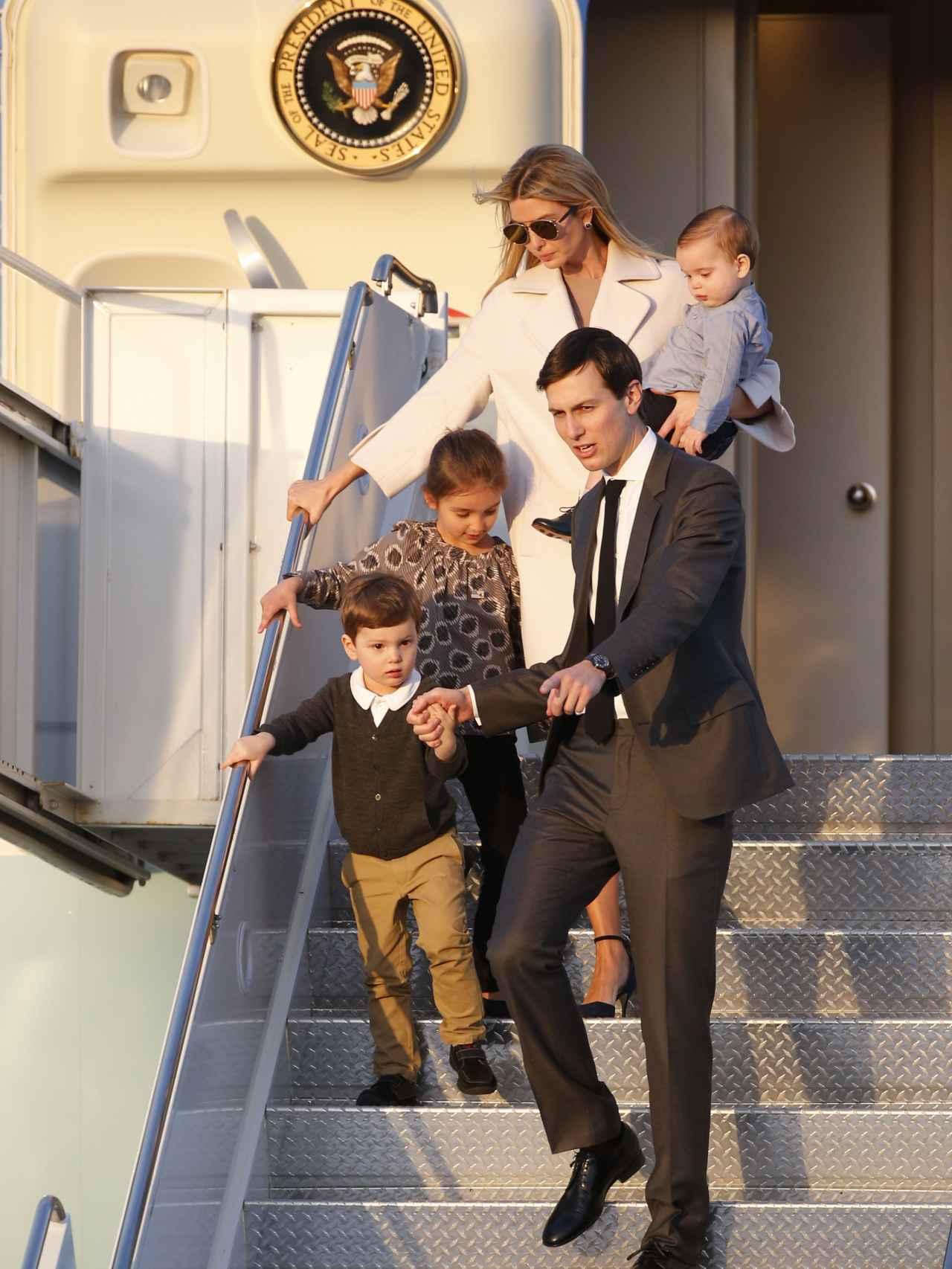 Jared e Ivanka junto a sus tres hijos Arabella, Joseph y Theodore.