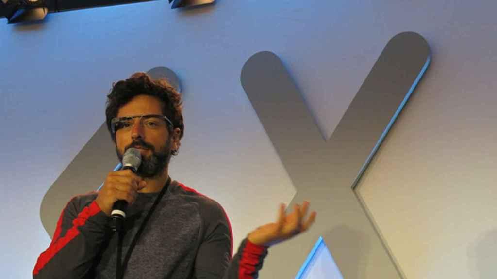 Sergey Brin, en la presentación de las Google Glass