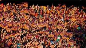 Afición del Barcelona durante la última final de Copa, también en el Calderón.