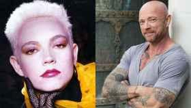 Angel en su época de modelo (izquierda) y en la actualidad (derecha).