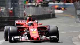 Raikkonen durante la clasificación del GP de Mónaco.