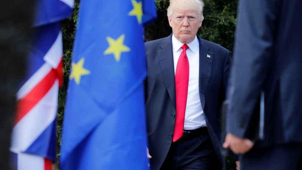 Donald Trump en la cumbre del G7.