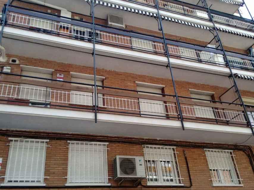 Susana y Jesús vivían en el primer piso de este bloque de Ciudad Lineal.