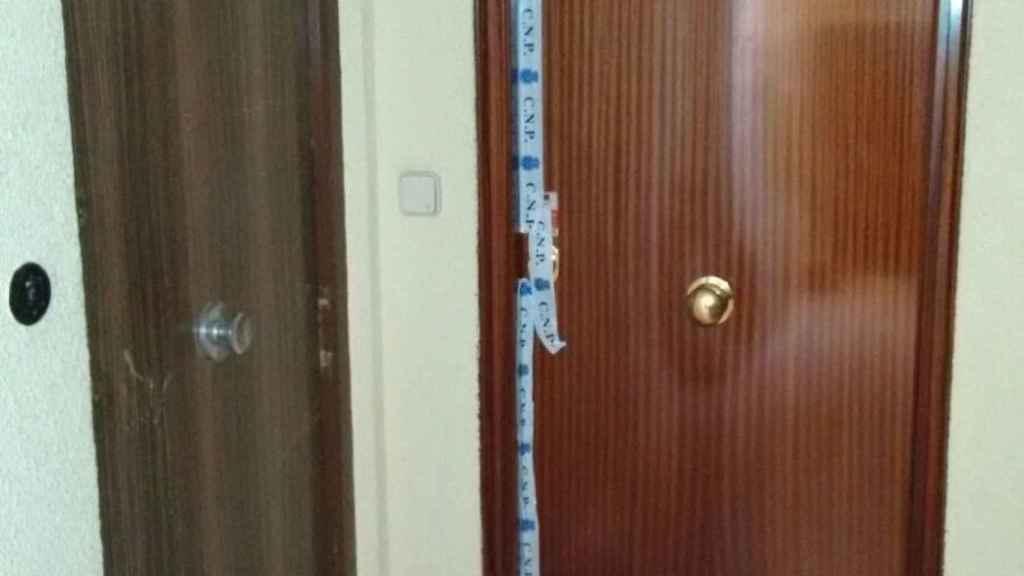 La puerta de la casa de Susana y de Jesús.