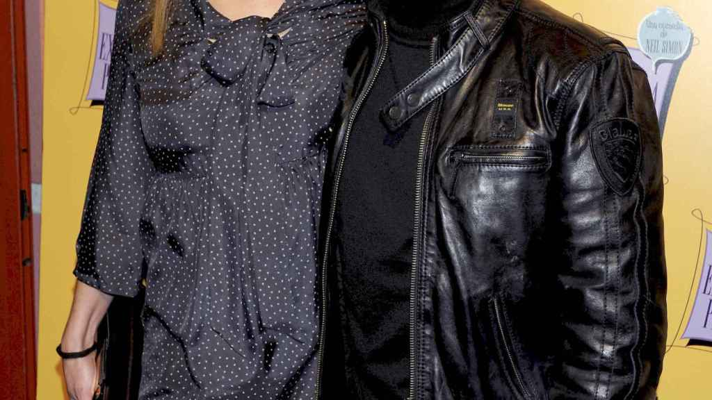 Jose Mota y Patricia Rivas durante un homenaje a Richy Castellanos, 2012.
