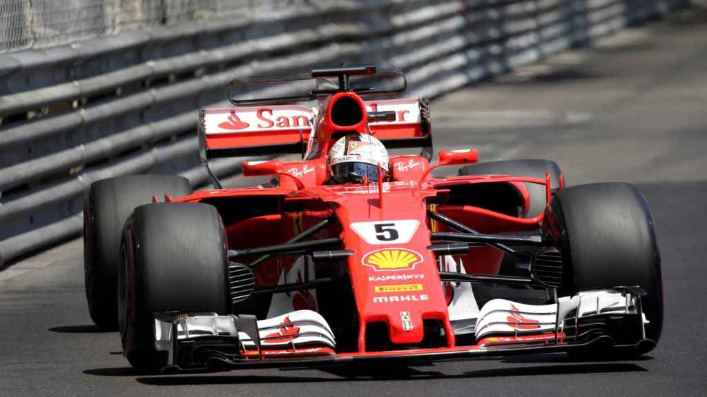 Vettel durante el GP de Mónaco.