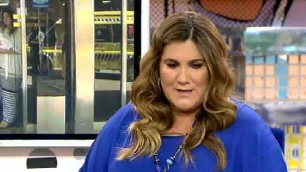 Carlota Corredera, durante una de sus entrevistas en Sálvame Deluxe.