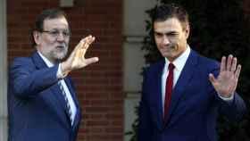 Rajoy y Sánchez, en una visita del líder socialista a la Moncloa.