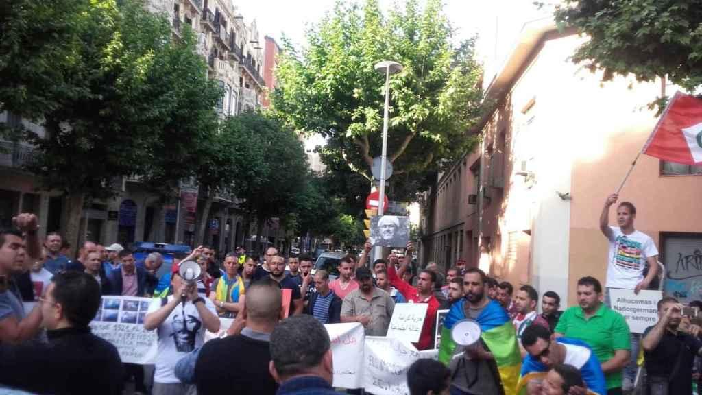 Manifestación del movimiento popular del Rif en Barcelona.