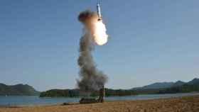 Imagen del lanzamiento norcoreano del pasado 22 de mayo.