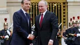 Macron y Putin, este lunes en el Elíseo