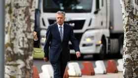 El expresidente de la CAM, a su llegada a la Audiencia Nacional.