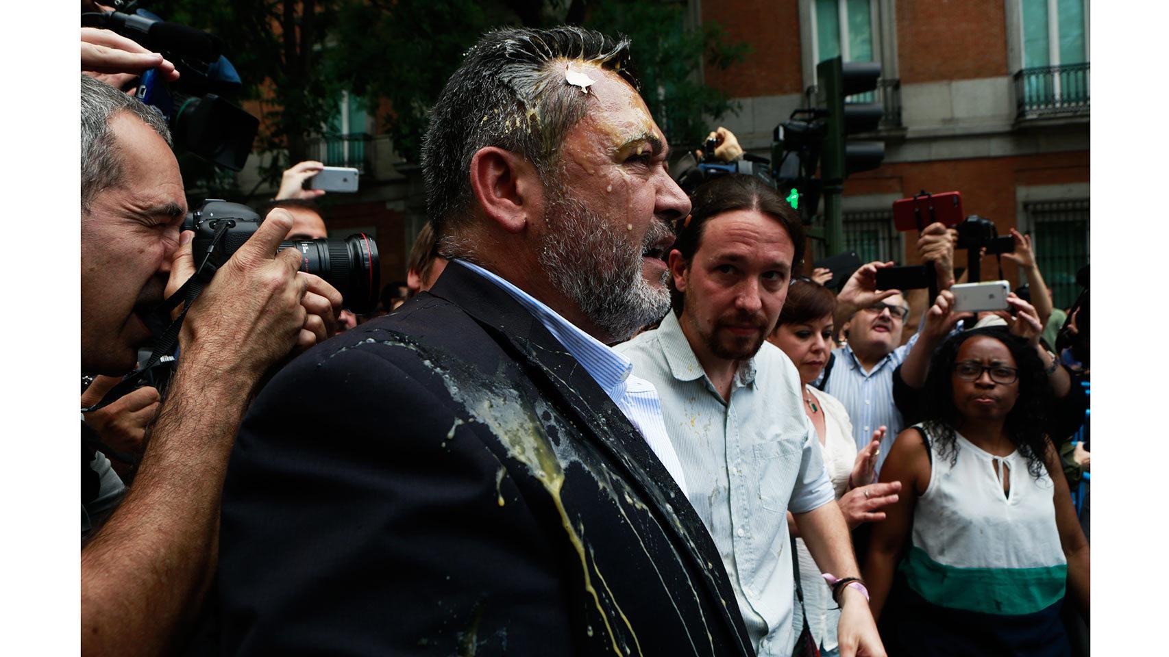 La manifestación de taxistas en Madrid
