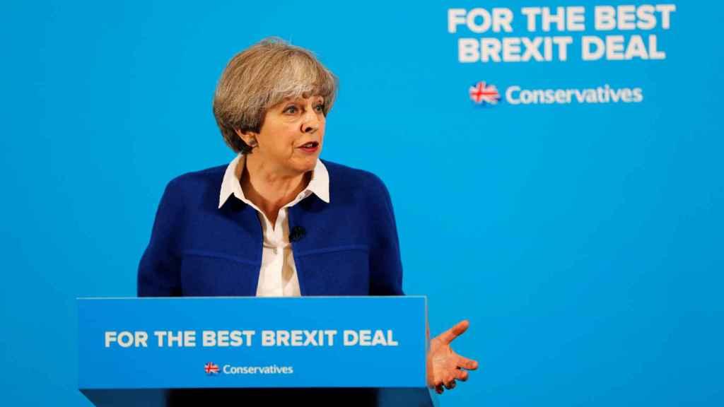 May ha intentado colocar el brexit en el centro de la campaña electoral.