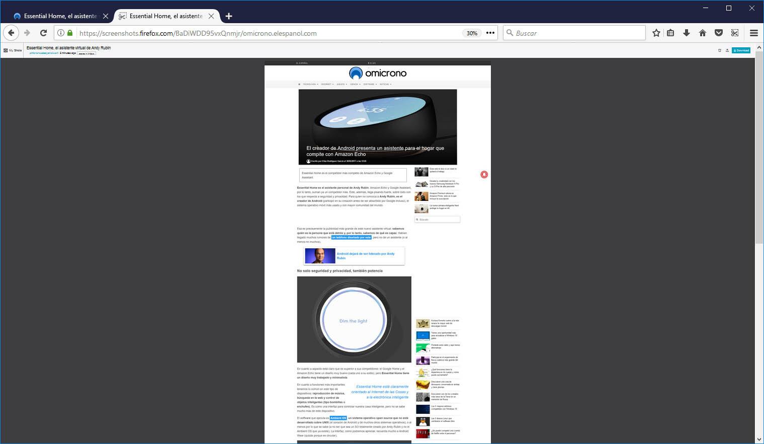 captura de pantalla larga firefox