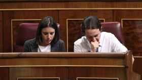 Iglesias, en su escaño del Congreso de los Diputados.