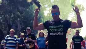 Nacho Castillo, alias Peseto loco, es el líder de las protestas más radicales de los taxistas contra las empresas de VTC