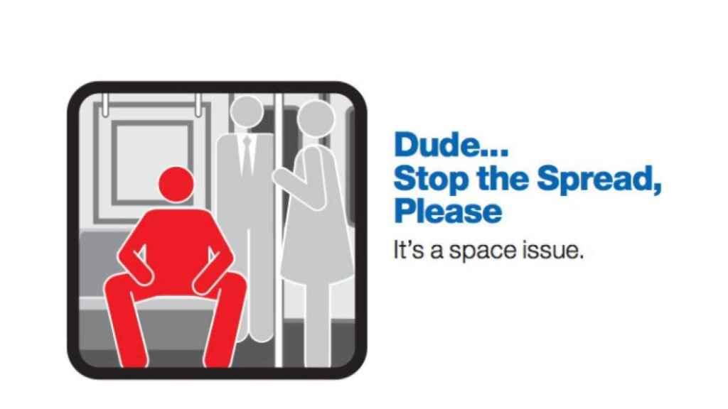 La ilustración utilizada en el Metro de Nueva York