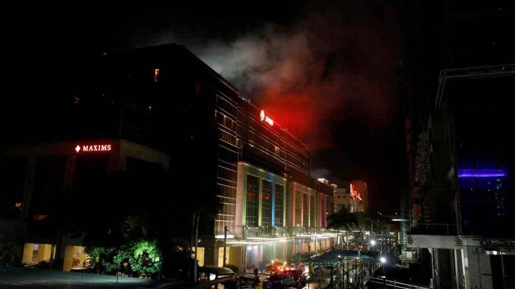 Imagen del exterior del hotel atacado.