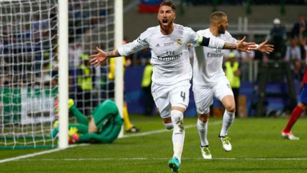 Celebración gol de Ramos Undécima