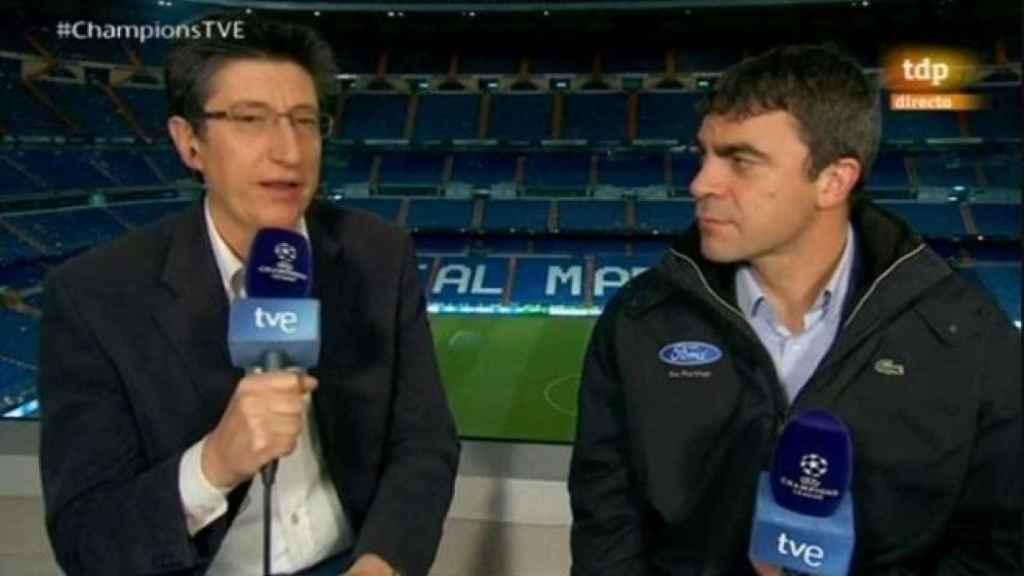 Fotograma de la retransmisión de un partido de Champions League en RTVE en la temporada 2013-2014