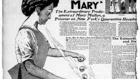 Información del periódico que la bautizó como María Tifoidea.