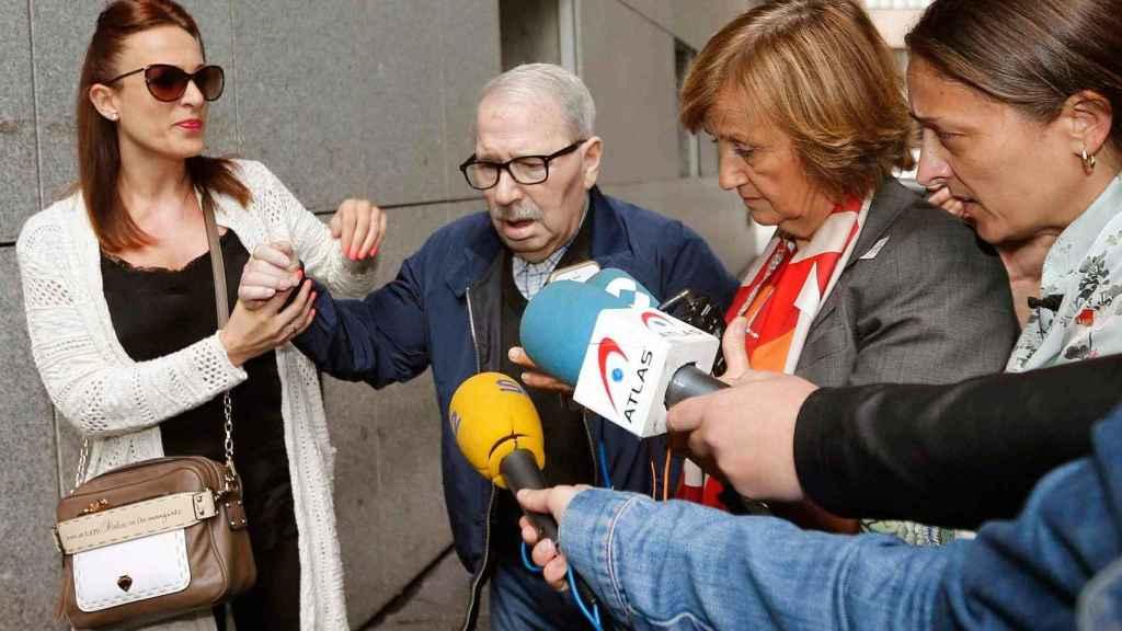 El ex secretario general del SOMA-UGT, José Ángel Fernández Villa, a su llegada al Palacio de Justicia de Oviedo.
