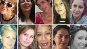 Hasta la fecha, 30 mujeres han sido asesinadas. Aquí aparecen algunas de ellas, de izquierda a derecha: Blanca Esther, Toñi, Cristina, Laura, Yurena, Violeta, Eliana, Ana Hilda, Susana y Beatriz.