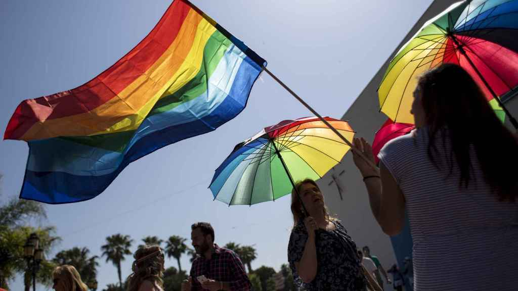 Manifestación a favor del colectivo LGTBI.