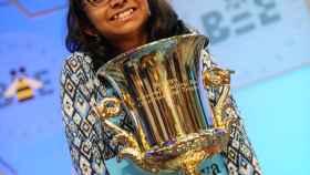 Ananya Vinay, de 12 años, vencedora del campeonato de este año.