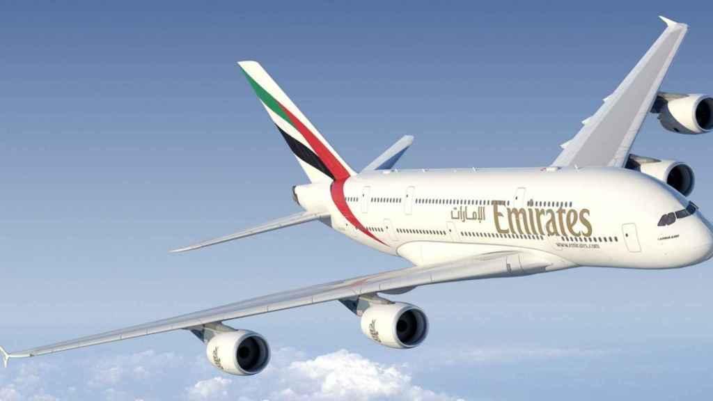 Un avión de Emirates en una imagen de archivo