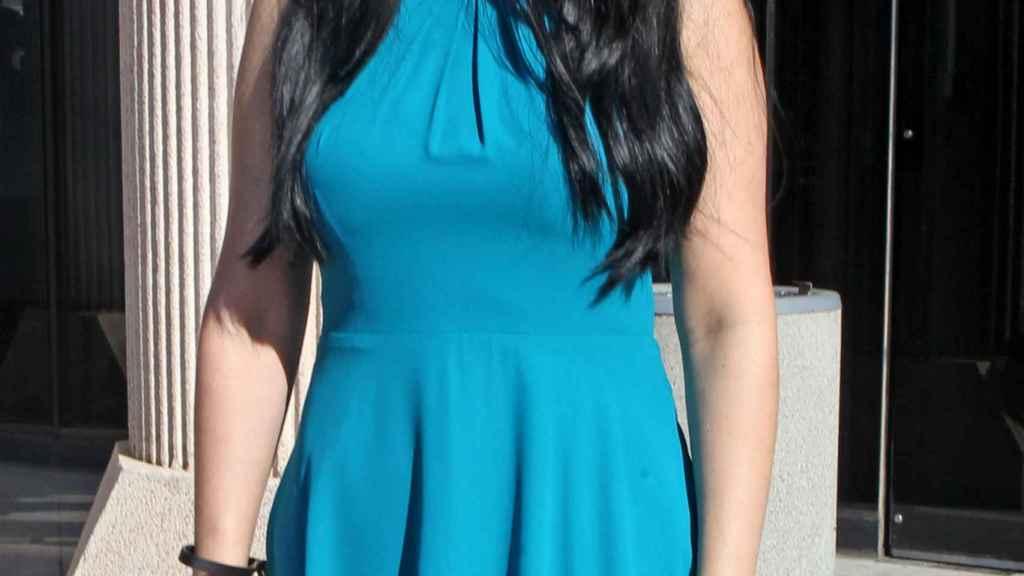Adela Montes de Oca, antes de entrar al juicio en Pozuelo de Alarcón.