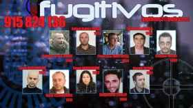 Los diez fugitivos más buscados por la Policía en 2016, con Lamarca entre ellos.