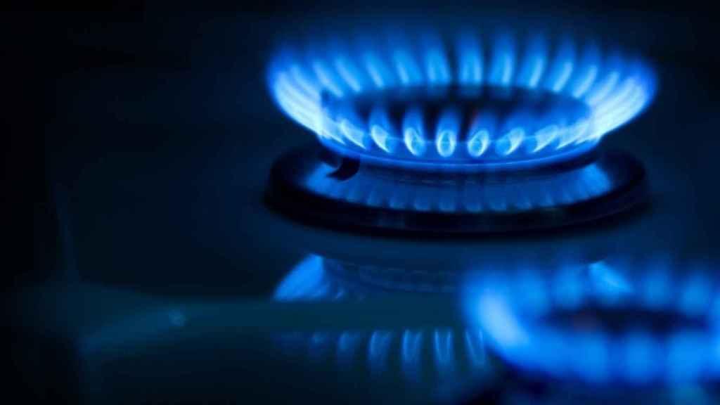 Imagen de archivo de un quemador de una cocina a gas.