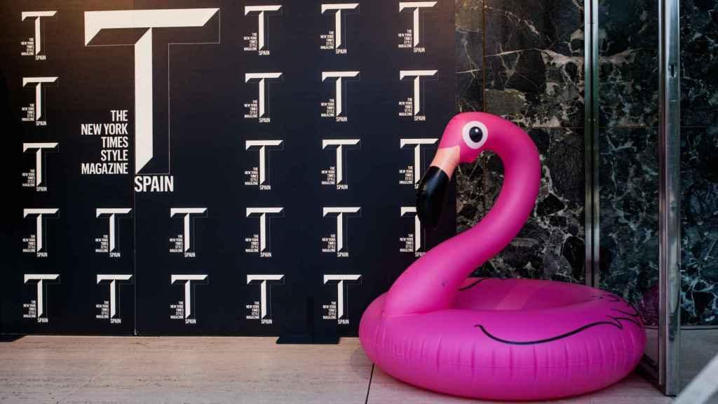 El photocall de la presentación de T Magazine que tuvo lugar en Barcelona. | Foto: Spainmedia.