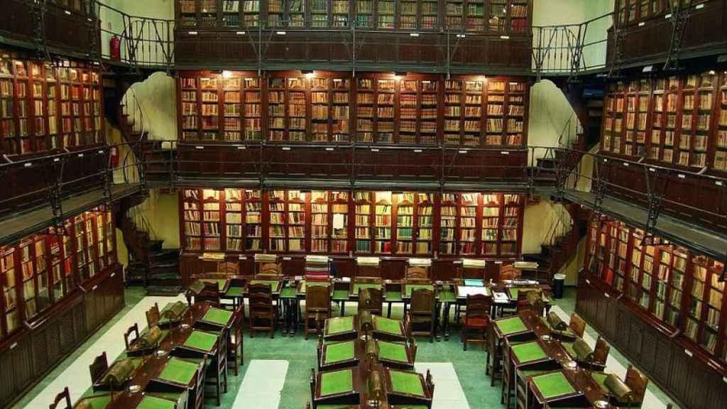 La biblioteca del Ateneo de Madrid.