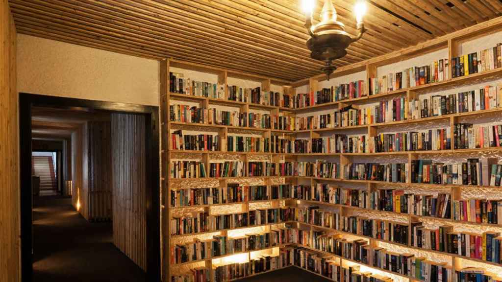 Rincón del Hotel The Literary Man, en Óbidos (Portugal).