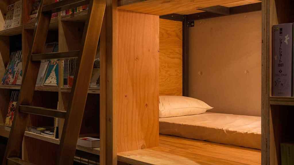 Una de las habitaciones del Hostal Book and Bed Tokyo.