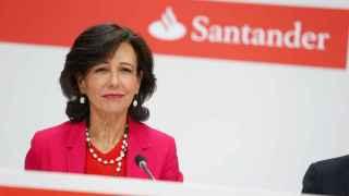 La presidenta del Banco Santander en la rueda de prensa sobre la compra del Banco Popular.